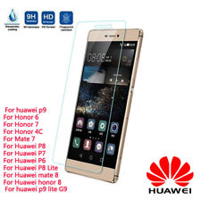 2 Pack Real Tempered Glass Screen Protector Cover for Huawei P8/P9/P10 Plus/Lite