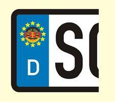 4 x KFZ Kennzeichen Aufkleber DDR GDR Deutschland Germany Nummernschild Sticker