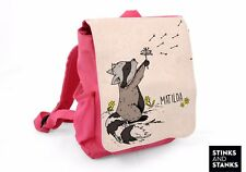 Kinderrucksack Rucksack Waschbär mit Wunschname