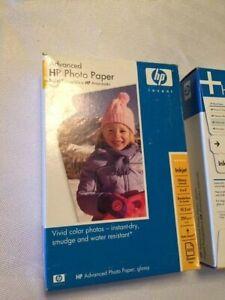 """HP advanced photo paper, glossy 4 x 6"""" no boarder, 100 sheets per box"""