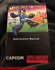 MEGA MAN SOCCER Custom Art Instruction Manual Only For Super SNES
