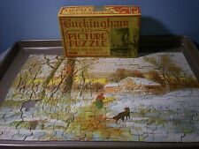 Buckingham Jig Pictire Puzzle 30's 200+ pcs 1 missing House among the Heather