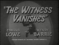 THE WITNESS VANISHES 1939 EDMUND LOWE, WENDY BARRIE