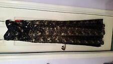 Dancing Queen, black and gold long sleeveless gown, M