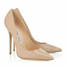 Jimmy Choo Anouk Nude Patent Leather