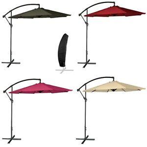 Parasol Déporté Cadre Alu et Manivelle Toile Imperméable Anti UV Diamètre 350cm