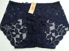 DressNStyle NWT VICTORIA'S SECRET Sexy Lace Midnight Blue Panty Underwear L-XL