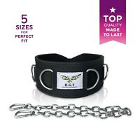 H.G.T Weight Lifting Dipping Belt Hip Squat Mobility Dip Belts w/D-Rings & Chain