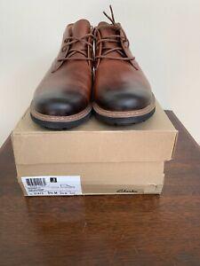 Clarks Mens Batcombe Lo Leather Chukkas Boots Size 9.5 NIB