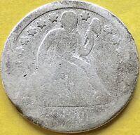 1860 S Seated Liberty Dime 10c Rare Circulated San Francisco #15084