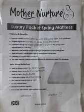 New Mother Nurture Luxury Pocket Spring Cot Mattress Cover