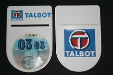 TALBOT MOTORHOME  TAX DISC HOLDER - Self-Adhesive with Double Sided Logo!