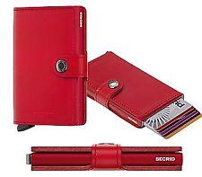 Secrid mini cartera protector de tarjetas RFID original rojo