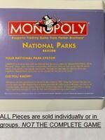 U-PICK 1998/2001 Monopoly National Parks edition parts pieces token cards money
