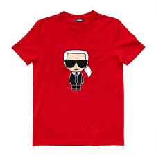 KARL LAGERFELD T-Shirt Shirt mit Karl Ikonik UNISEX Karl-Silhouette Gr.M Rot NEU