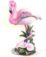 Flamingo Trinket / Jewelry Box Pewter Bejeweled Treasures