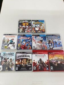 Playstation 3 Sealed Game Lot 10 Games All Sealed