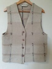 True Vintage Dorothy Perkins Hessian Type Knit Waistcoat Top Size 14