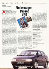 1991 Volkswagen Passat VR6 Original Car Review Print Article J38