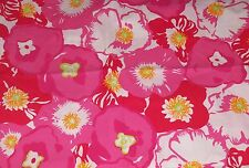 RARE LILLY PULITZER FABRIC*BEGONIAS*SCARLET*HOTTY PINK*ORANGE*17 X 17*QUILT FAB