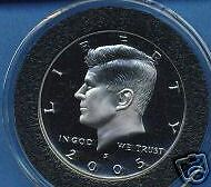 2005~S  (SILVER) PROOF~KENNEDY HALF~~IN CAPSULE~~CAMEO