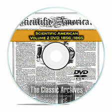 Scientific American, 484 Back Issues, 1856-1865, Vol 2, Inventions, PDF DVD F39