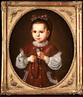 EMILE ROUEDE (1850-1912) SIGNED FRENCH OIL ON CANVAS PORTRAIT OF YOUNG GIRL