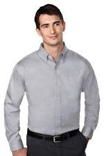 Tri-Mountain Men's Wrinkle Free Button Down Collar Soft Hand Dress Shirt. 780