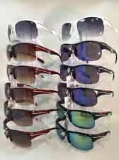 #CW8321sports style sunglasses plastic frame assorted colors wholesale 12 pairs