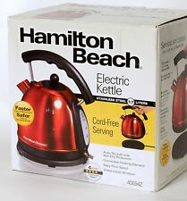 Hamilton Beach 1.7L Stainless Steel Electric Kettle 40894 Red