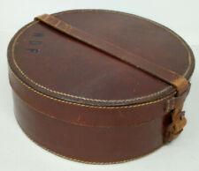 Vintage Dark Brown Leather Collar Box