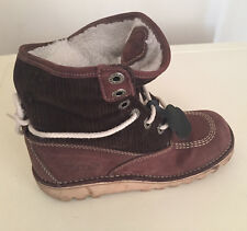 Kickers Brown Leather Women Ladies Ankle  Shoe Boot Size 3