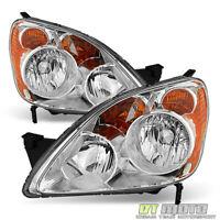 For 2005-2006 Honda CRV CR-V [UK Built Models] Headlights Headlamps Left+Right
