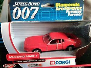 Corgi James Bond Mustang Mach 1 diecast model.Diamonds are forever!.