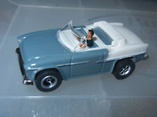 DASH GRAY/WHITE CONVERTIBLE '55 CHEVY SLOT CAR with AUTO WORLD CHASSIS n DRIVER