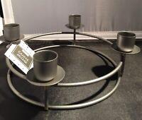 Candle Stick Holder Centerpiece Candelabra Silver Grey Taper Valentine Day New
