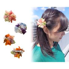 Luculia Hair Barrette GS-12B High Quality Hair Barrette Fabric Petal Cloth Japan