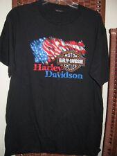 Harley Davidson Orlando FL t shirt L 46 C  tshirt American Flag USA patriotic