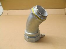 """NEW CROUSE HINDS LT30045G 3"""" 45 DEGREE LIQUIDTIGHT CONNECTOR W/GROUND 4Q-4300LT"""