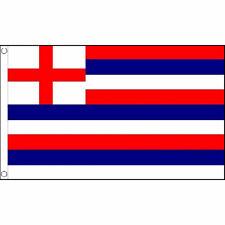 Striped Ensign Red/Blue/White Flag 5Ft X 3Ft British Navy Naval Banner New