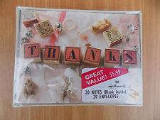 Hallmark Baby Girl Gift Thank You Cards Box of 20 Cards & Envelopes MIB Adorable