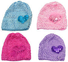 Bella Baby Stretchy Knitted Bonnets Hats in Set of 4, 8 & Dz Pk U16250-6411