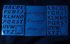 Plastic/PVC/Embossing/Stencil/Alphabet/SET/Upper/Case/PP//Bendy