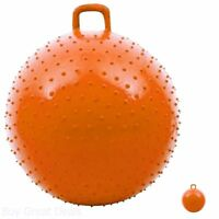 Kids Bounce Ball With Handle Ride On Rubber Hopping Bouncing Play Exercise New