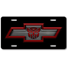Chevy Chevrolet Bowtie Transformers Autobot Aluminum Car Truck License Plate Tag