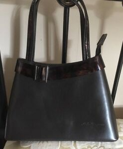Riches Dog - Leather Evening Hand Bag - Brown - New