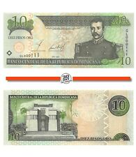 Dominican Republic 10 Pesos 2002 Unc Pn 168b - Low Serial Numbers