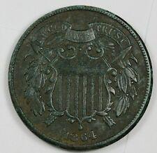 1864 2 Cent Piece.  Natural XF Detail.  Needs Expert Conservation.  167201