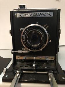 Vintage Speed Graphic 4 X 5 Hugo Meyer Precision Rangefinder With Extras