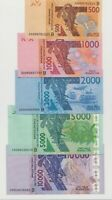 BENIN: West African States - Complete Set Banknotes Francs all 5, (B)  2019 UNC